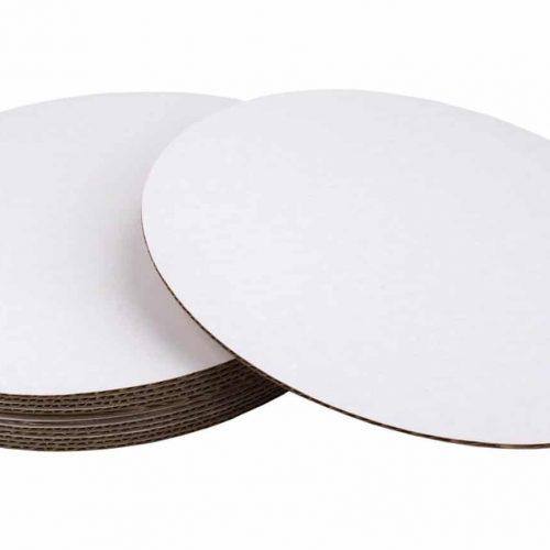 Fox Run 4369 Base Redonda de Cartón para Pasteles, 30.48 cm, Paquete de 8, Blanco