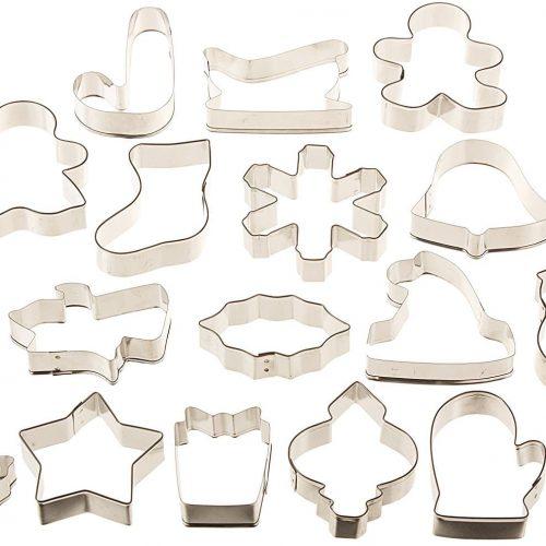 Wilton 2308-1132 - Juego de cortadores de metal para galletas, 18 piezas