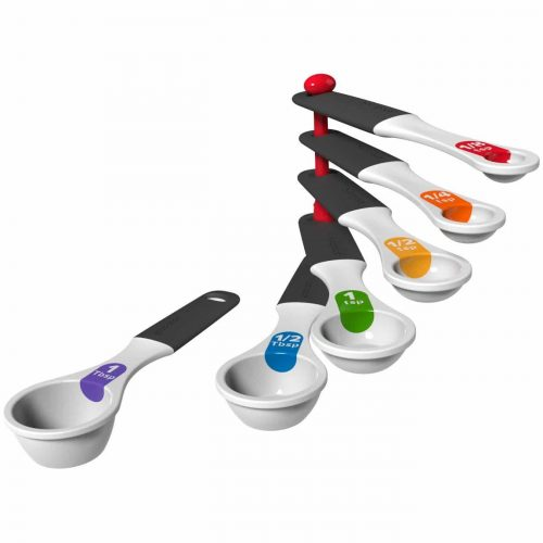Good Cook Touch 6 Piece Measuring Spoon Set, White