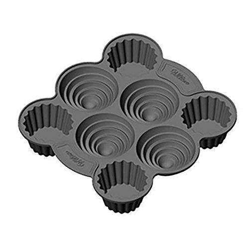 Wilton 2105-5043 Molde para crear 4 cupcake jumbo 10 cm diametro